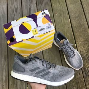 NWT ADIDAS PureBoost Gray Sneakers Shoes